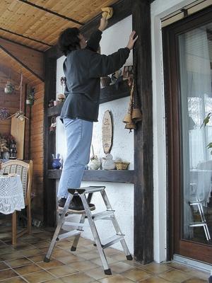 Лестница стремянка двухсторонняя Dopplo 3 ступени купить на выгодных условиях в Брянске