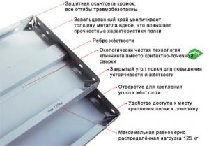 Полка 70/40 для металлического стеллажа купить на выгодных условиях в Брянске
