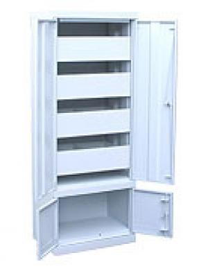 Шкаф металлический картотечный ШК-4-Д4 купить на выгодных условиях в Брянске