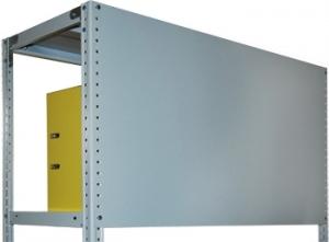 Стенка усиленная 100\100 для металлического стеллажа купить на выгодных условиях в Брянске