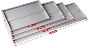Полка 100/30 для металлического стеллажа купить на выгодных условиях в Брянске