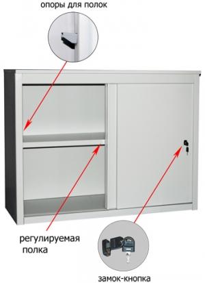 Шкаф-купе металлический ALS 8815 купить на выгодных условиях в Брянске